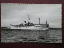 POSTCARD MERCHANT CARGO VESSELS R.M.V. SCILLONIAN LEAVING SCILLY