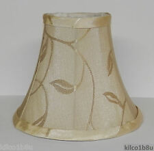(2) New CREAM LEAF Fabric Chandelier Lamp Shade Ivories, Traditional, any room