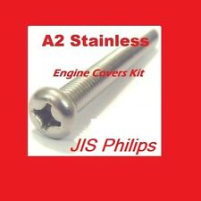 Suzuki A100 - Crankcase Covers Kit - Stainless Philips