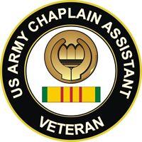 "Army Chaplain Assistant Vietnam Veteran 8"" Window Sticker Decal"