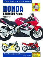 Haynes Workshop Manual for HONDA CBR CBR600 CBR600F & FS Sport 1999 to 2006