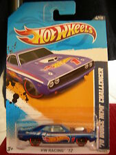 Hot Wheels '70 Dodge Hemi Challenger Hw Racing '12 Blue