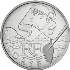 """10 euros régions """"drapeau"""" (argent)  Corse 2010"""