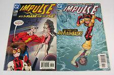 Impulse #84 & #85 Both Signed by Wayne Faucher! DC COMICS 2002 FLASH CW TV SHOW