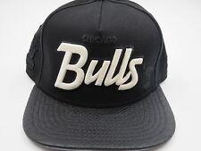 Chicago Bulls Throwback Black 9FIFTY NBA New Era Custom Strapback Hat Cap S/M