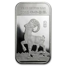 Year of the Ram Goat 2015 1 oz .999 Silver Bar