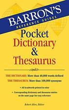 Pocket Dictionary & Thesaurus [Paperback] Allen, Robert