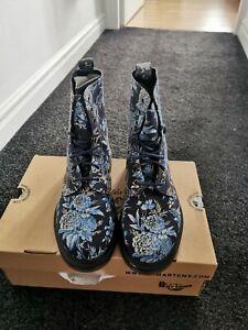 New Dr Martens Floral Beckett Blue Size 6