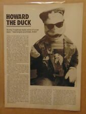 Vintage 80's HOWARD THE DUCK Movie Original 1986 Print Article Clipping