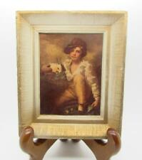 "MINIATURE MASTERS INC. NY FRAMED REPRODUCTION SIR HENRY RAEBURN ""BOY W/ RABBIT"""