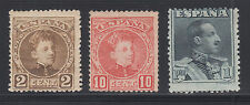 Spain Sc 272, 274, 342 MLH. 1901-1922 issues, 3 different, nice group