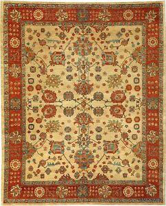 Chobi Vegetable dye 8x10 Ft. Top Quality HANDMADE rug beige background handmade
