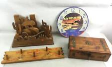Wooden Keepsake Box, Western Motif Decor Lot 3042