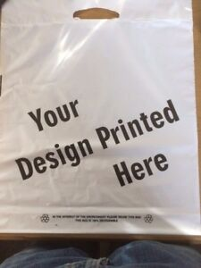 Plastic Paper Carrier bags plain printed bespoke many sizes uk made