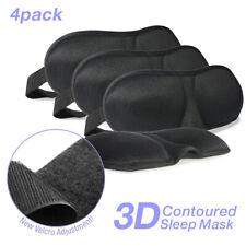[4 PCs] Cushioned Contoured Sleep Mask Breathable Eye Pillow w/ Adjustable Strap