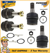 2 Front Upper 2 Front Lower Ball Joints W/ 5 Year Warranty For A Ram 1500 4Wd