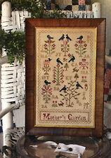 Mother's Garden Blackbird Designs Cross Stitch Pattern