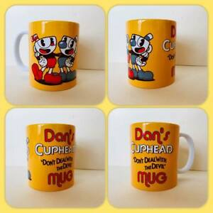personalised mug cup cupheads run and gun video game King Dice The Devil 1930s