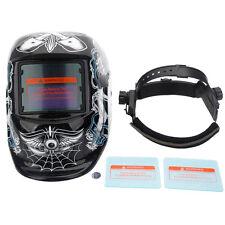 Solar Auto Darkening Welding Helmet Weld Lens Grinding Mask Skull Pattern