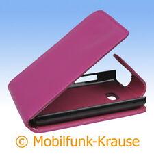 Flip Case Etui Handytasche Tasche Hülle f. LG E400 Optimus L3 (Pink)