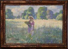 Alfons Annys, 1892-1971, Impressionnisme, Splendeur d'été, Jeune femme, 1925