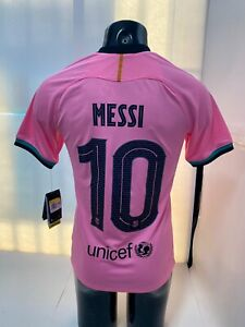 nike fc barcelona Third Jersey 20/21 Pink Black MESSI #10 Size Mans Small Only