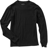Men's thermal shirt Faded Glory long sleeve 100% cotton black size Small NWT