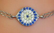 "WOW Estate Silver Adina Reyter .37 Ct Diamond ""All Seeing Eye/Luck"" Bracelet"