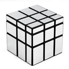 Shengshou Mirror Magic Cube 3x3 Speed Cube Unequal Puzzle Silver Black 57mm