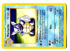 POKEMON BASE English SHADOWLESS CARD UNCO N°  42/102 WARTORTLE