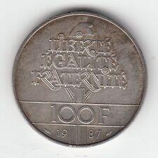 MONNAIE 100  FRANCS  LA FAYETTE   EN ARGENT  1987   SYLVER COIN  4
