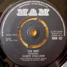 "Gilbert O'Sullivan – Ooh Baby  7"" vinyl  disc."