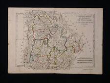 Ancienne Carte Départements et Districts de Dauphiné Par M. Bonne Ingénieur