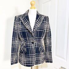 Valentino Roma Jacket Blazer Wool Black White  UK 12 IT 44 US 8 Smart Tailored