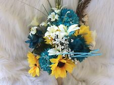 HUGE Wedding Bridal Bouquet Flowers Decoration Package Sunflowers oasis or your