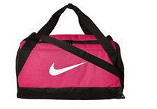 Nike Brasilia Duffel Bag PINK Training Sports Holdall Gym Bag Small Weekender