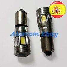 2 x Lampadine 6 LED SMD 5630 con LENTE Bianco CANBUS H6W T4W Posizione,#3008