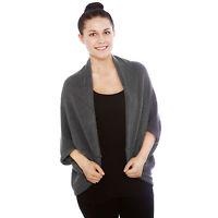 Women's Batwing Top Poncho Knit Cape Cardigan Coat Knitwear Sweater Outwear