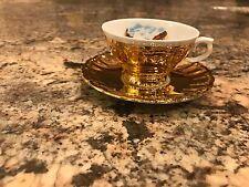 Beautiful Vintage Porcelain Teacup And Saucer Gold Baumholder