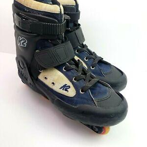 Vintage K2 Fatty Backyard Bob Mens Size 12 Aggressive Inline Skates Rollerblades