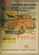 Pontiac Car Ad: Never Has So Little Money Bought from 1939 Size: 11 x 15 inches