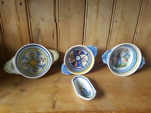 Quimper LOT bowls small dish plate French faience