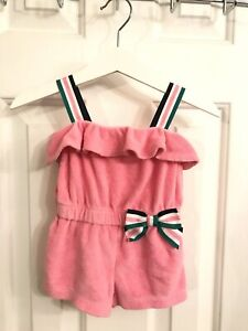 Janie and Jack Toddler Girl Terry Swim Cover up Romper Pink Size 3-6 Months