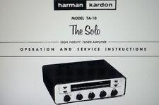 service manual sinto amplificatore radio Harman Kardon Solo TA-10 su carta a4