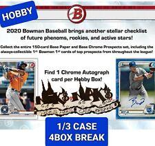 ATLANTA BRAVES 2020 BOWMAN BASEBALL HOBBY 1/3 CASE 4 BOX BREAK #4