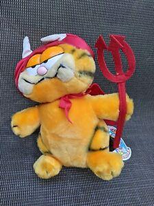 Vintage 1980's Dakin Garfield Devil Plush Toy - 21CM
