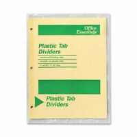"""Avery Office Essentials Economy Insertable Tab Dividers - 5 Tab[s]/set - 8.50"""" X"""