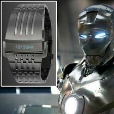 Electronic Digital Big Wrist Watch Iron Man Style LED Display Men Sports Watch