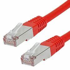 CAT 6 Patchkabel, S/FTP (PiMF), rot, 2 m, doppelt geschirmt, Netzwerk LAN DSL