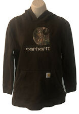 Carhartt X Realtree Camouflage Pullover Hoodie Brown Size Youth Large L